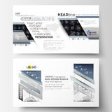 Business templates in HD format for presentation slides. Easy editable layouts. High tech design, connecting system. Science and technology concept. Futuristic Royalty Free Stock Image