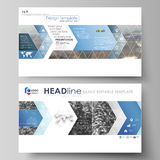 Business templates in HD format for presentation slides. Easy editable vector layouts in flat design. Abstract landscape Royalty Free Stock Images