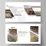 Business templates in HD format for presentation slides. Easy editable vector layouts in flat design. Abstract Royalty Free Stock Photography