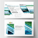 Business templates in HD format for presentation slides. Flat design blue color travel decoration layout, easy editable Stock Image