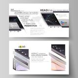 Business templates in HD format for presentation slides. Vector layouts. Colorful abstract infographic background in Stock Photos