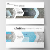Business templates in HD size for presentation slides. Easy editable abstract layouts. Scientific medical research Stock Photo