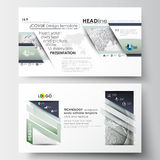 Business templates in HD size for presentation slides. Easy editable layouts in flat design. Dotted world globe  Stock Image
