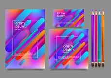 Business templates for multipurpose presentation. Easy editable vector EPS 10 layout. Northern Lights neon effect on purple background event party flyer Royalty Free Stock Photography