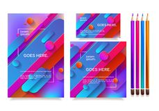 Business templates for multipurpose presentation. Easy editable vector EPS 10 layout. Northern Lights neon effect on purple background event party flyer Royalty Free Stock Image