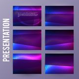 Presentation template powerpoint background aurora boreal neon e. Business templates for multipurpose presentation slides. Easy editable vector EPS 10 layout Stock Photography
