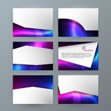 Presentation template powerpoint background aurora boreal neon e. Business templates for multipurpose presentation slides. Easy editable vector EPS 10 layout Royalty Free Stock Photos