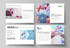 Business templates for presentation slides. Abstract vector design layouts. Bright color lines and dots, colorful Royalty Free Stock Photo