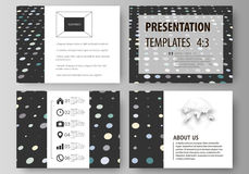 Business templates for presentation slides. Easy editable abstract layouts in flat style. Soft color dots with illusion Royalty Free Stock Images