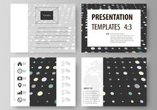 Business templates for presentation slides. Easy editable abstract layouts in flat style. Soft color dots with illusion Stock Photography