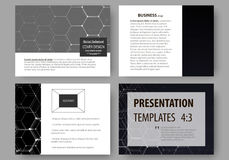 Business templates for presentation slides. Easy editable vector layouts. Chemistry pattern, hexagonal molecule. Structure, scientific or medical research Royalty Free Stock Photo
