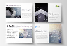 Business templates for presentation slides. Easy editable vector layouts. Chemistry pattern, hexagonal molecule Royalty Free Stock Photos