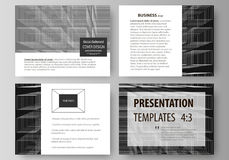Business templates for presentation slides. Easy editable vector layouts in flat design. Abstract infinity background. 3d structure with rectangles forming Stock Image