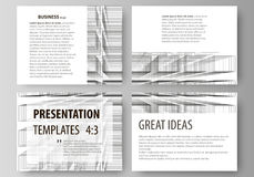 Business templates for presentation slides. Easy editable vector layouts in flat design. Abstract infinity background. Set of business templates for presentation Stock Photo