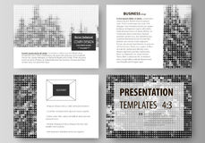Business templates for presentation slides. Easy editable vector layouts, flat design. Abstract landscape of nature Stock Photo