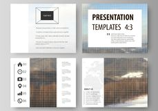 Business templates for presentation slides. Easy editable vector layouts, flat design. Abstract landscape of nature Royalty Free Stock Photography