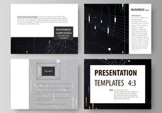 Business templates for presentation slides. Vector layouts. Abstract infographic background in minimalist design made Stock Images