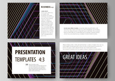 Business templates for presentation slides. Vector layouts in flat style. Royalty Free Stock Photo