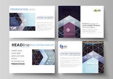 Business templates for presentation slides. Vector layouts in flat style.  Stock Photo