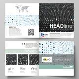 Business templates for square bi fold brochure, magazine, flyer, booklet. Leaflet cover, abstract layout. Soft color. Business templates for square design bi vector illustration