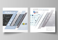 Business templates for square brochure, flyer, booklet, report. Leaflet cover, abstract layout. Soft color dots with. Business templates for square design Stock Image