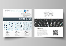 Business templates for square brochure, flyer, booklet, report. Leaflet cover, abstract layout. Soft color dots with. Business templates for square design Royalty Free Stock Photos