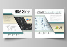 Business templates for square brochure, flyer, booklet, report. Leaflet cover, abstract layout. Soft color dots with. Business templates for square design Stock Photography