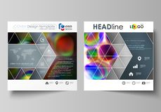 Business templates for square brochure, magazine, flyer, booklet or annual report. Leaflet cover, flat vector layout vector illustration