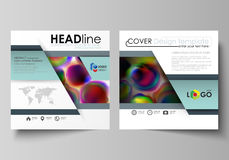 Business templates for square brochure, magazine, flyer, booklet or annual report. Leaflet cover, flat vector layout Stock Photos