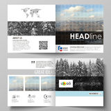 Business templates for square design bi fold brochure, flyer, booklet or annual report. Leaflet cover, vector layout Royalty Free Stock Photography