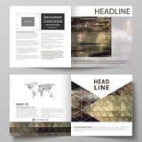 Business templates for square design bi fold brochure, flyer, booklet. Leaflet cover, vector layout. Abstract. Business templates for square design bi fold Royalty Free Stock Image