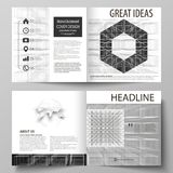 Business templates for square design bi fold brochure, magazine, flyer. Leaflet cover, vector layout. Abstract infinity. Business templates for square design bi Stock Photo