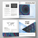 Business templates for square design bi fold brochure, magazine, flyer, booklet or report. Leaflet cover, abstract Stock Image