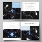 Business templates for square design bi fold brochure, magazine, flyer, booklet or report. Leaflet cover, abstract Royalty Free Stock Image