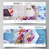 Business templates for square design bi fold brochure, magazine, flyer, booklet, report. Leaflet cover, abstract vector. Business templates for square design bi royalty free illustration