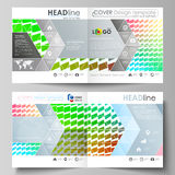 Business templates for square design bi fold brochure, magazine, flyer, report. Leaflet cover, vector layout. Colorful Royalty Free Stock Image