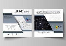 Business templates for square design brochure, flyer, annual report. Leaflet cover, vector layout. Colorful abstract Stock Photo