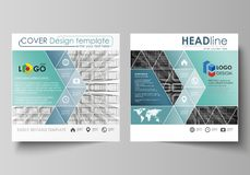 Business templates for square design brochure, flyer, booklet, report. Leaflet cover, vector layout. Abstract infinity. Business templates for square design stock illustration