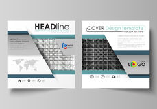 Business templates for square design brochure, flyer, booklet, report. Leaflet cover, vector layout. Abstract infinity. Business templates for square design Stock Image
