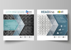 Business templates for square design brochure, flyer, booklet, report. Leaflet cover, vector layout. Abstract infinity. Business templates for square design Royalty Free Stock Photos