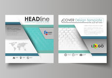 Business templates for square design brochure, flyer, report. Leaflet cover, abstract vector layout. Chemistry pattern Stock Image