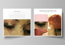 Business templates for square design brochure, magazine, flyer, booklet. Leaflet cover, abstract vector layout. Romantic. Business templates for square design royalty free illustration