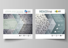 Business templates for square design brochure, magazine, flyer, booklet or annual report. Leaflet cover, abstract vector Stock Photography