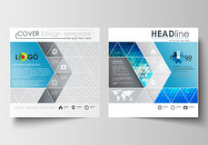 Business templates for square design brochure, magazine, flyer, booklet or annual report. Leaflet cover, flat layout Stock Image