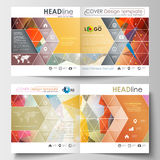 Business templates for square design brochure, magazine, flyer, booklet, annual report. Leaflet cover, flat layout, easy Stock Photo