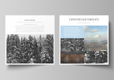 Business templates for square design brochure, magazine, flyer, booklet, annual report. Leaflet cover, vector layout Stock Photo