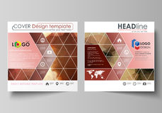 Business templates for square design brochure, magazine, flyer, booklet. Leaflet cover, abstract vector layout Stock Photos