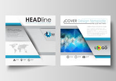 Business templates for square design brochure, magazine, flyer, booklet. Leaflet cover, flat layout, easy editable blank Royalty Free Stock Photography