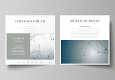 Business templates for square design brochure, magazine, flyer, booklet. Leaflet cover, vector layout. DNA and neurons. Business templates for square design royalty free illustration