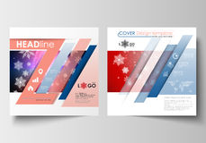 Business templates for square design brochure, magazine, flyer, booklet or report. Leaflet cover, flat layout vector Royalty Free Stock Photography